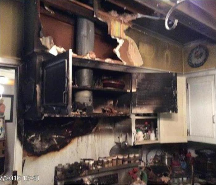 home burned due to grease fire